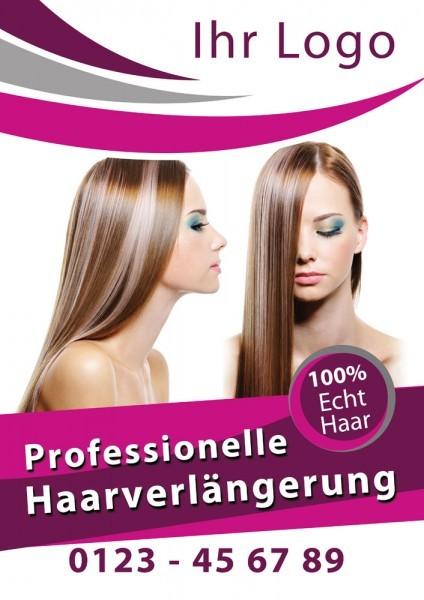Haarverlängerung Plakat / Poster 07