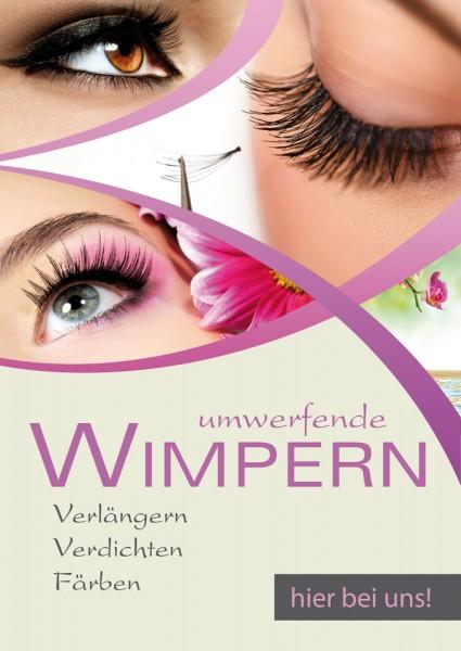 Wimpern Poster Motiv 2