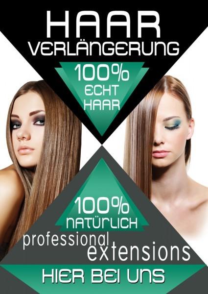 Haarverlängerung Plakat / Poster 02