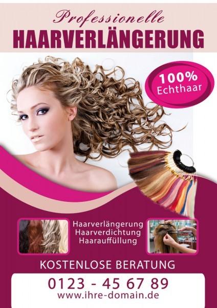 Haarverlängerung Plakat / Poster 06